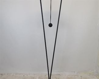 """ITEM 251--- modern halogen torchiere floor lamp. 17"""" w, 72.5"""" high, working condition, marks and scratches. $75.00"""