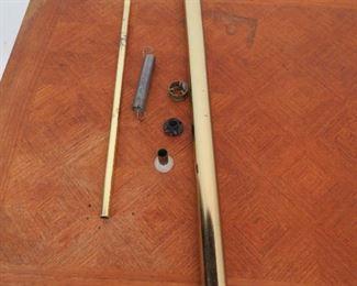 MCM pole lamp, AS IS  missing 1 wood handle, spring mechanism detached. PIC 2