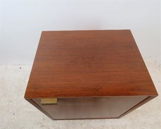 ITEM-277-- George Nelson Herman Miller cabinet. [missing hinges, top scratches].  PIC 2