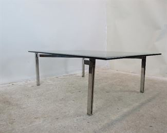 ITEM 10 --High quality Steel and beveled glass coffee table. PIC 5
