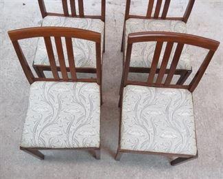 ITEM- 289-- set of 4  danish modern chairs. PIC 3