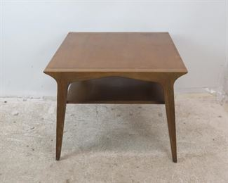 """ITEM-291-- Drexel profile table designed by John Van Koert. [scratches, blemishes and wear.] 30"""" wide, 30"""" deep, 24"""" high. $150.00"""