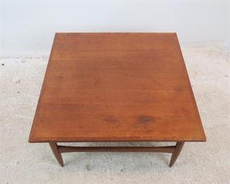 ITEM-293--Danish teak table [surface has nicks, marks, blemishes]  PIC 2