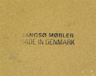 ITEM- 294-- Danish modern teak and slate top table, Gangso Mobler Denmark. PIC 2