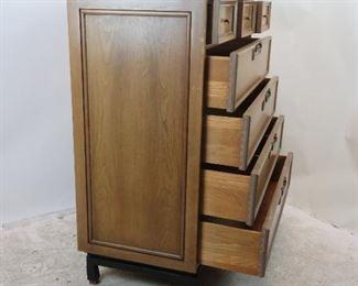 ITEM-295-- American Martinsville MCM 7 drawer high chest / dresser. PIC 2