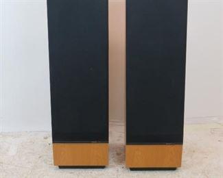 """ITEM-301- high quality Pair of Thiel CS 2  oak floor loudspeakers. 12""""wide, 12.25"""" deep, 39.5"""" high  $750.00"""