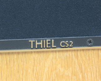 ITEM-301- high quality Pair of Thiel CS 2  oak floor loudspeakers. PIC 2