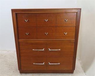 """ITEM- 308-- MCM 4 drawer dresser chest by Unagusta, 40"""" wide19"""" deep, 44.75"""" high. $450.00"""