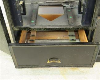 ITEM-309-- MCM cerused ebony, hi fi / television cabinet. no insides or back. great project to re-purpose cabinet.  PIC 4