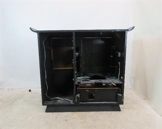 ITEM-309-- MCM cerused ebony, hi fi / television cabinet. no insides or back. great project to re-purpose cabinet. PIC 5
