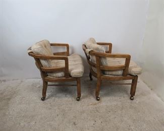 ITEM--351-- Pair of MCM  Drexel Heritage rolling lounge chairs.  PIC 2