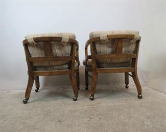 ITEM--351-- Pair of MCM  Drexel Heritage rolling lounge chairs.  PIC 5
