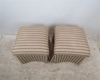 ITEM -352-- Pair of Sherrill Upholstered ottomans. minor staining.  PIC 4