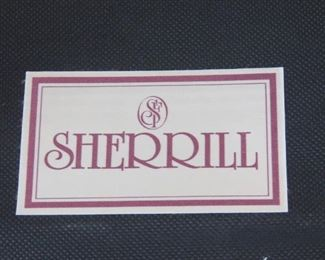 ITEM -352-- Pair of Sherrill Upholstered ottomans. minor staining.  PIC 3