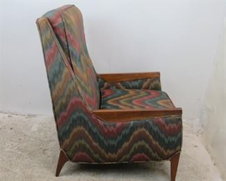 ITEM-355-- MCM upholstered lounge chair. [chip on back leg]  PIC 2