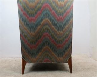 ITEM-355-- MCM upholstered lounge chair. [chip on back leg]  PIC 3