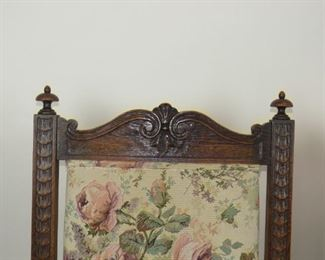 ITEM-356-- Pair of carved Jacobean oak arm chairs. [minor chips].  PIC 3