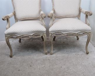 ITEM-359- Pair of french armchairs  Made by Fairfield.  good overall condition. PIC 2