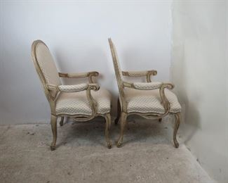 ITEM-359- Pair of french armchairs  Made by Fairfield.  good overall condition. PIC 4