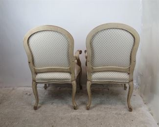 ITEM-359- Pair of french armchairs  Made by Fairfield.  good overall condition. PIC 5