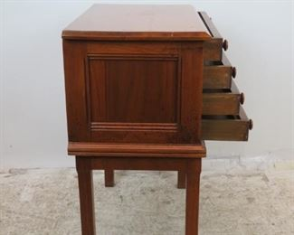 ITEM-360-- 4 drawer spool cabinet on legs. some surface scratches. PIC 2