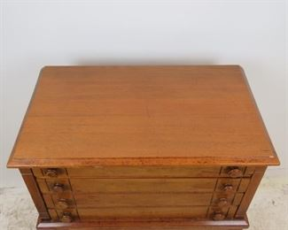 ITEM-360-- 4 drawer spool cabinet on legs. some surface scratches. PIC 3