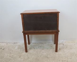 ITEM-360-- 4 drawer spool cabinet on legs. some surface scratches.  PIC 4