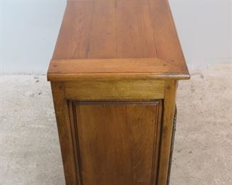 ITEM- 363--2 part country french step back cupboard with plate rack. comes with key.  PIC 6