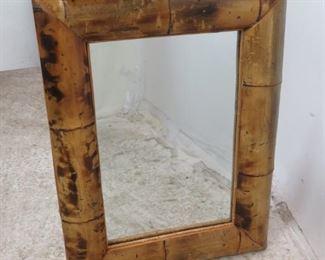 "ITEM-365- Vintage Bamboo mirror. 27.5"" x 20.5"" $125.00"