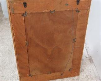 ITEM-365- Vintage Bamboo mirror.  PIC 3