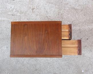 ITEM-366-- RARE Danish MCM teak 2 drawer dresser box.  PIC 3