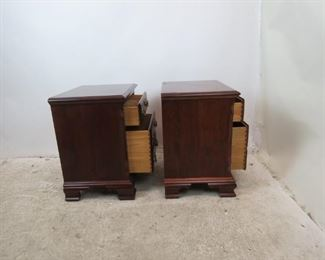 ITEM-367-- Pair of Pennsylvania House mahogany 2 drawer night stands. PIC 4