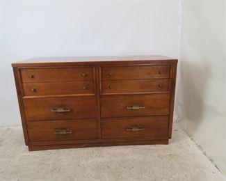 """ITEM-369-- MCM credenza /  8  drawer dresser by Mengel. 55.25"""" wide, 21"""" deep, 33.25"""" high  $375.00"""