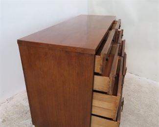 ITEM-369-- MCM credenza /  8  drawer dresser by Mengel.  PIC 2