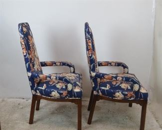 ITEM- 374- Pair of Tomlinson modern style upholstered fireplace lounge chairs.  PIC 2