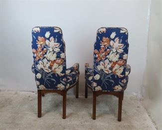 ITEM- 374- Pair of Tomlinson modern style upholstered fireplace lounge chairs.  PIC 3