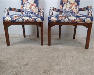 ITEM- 374- Pair of Tomlinson modern style upholstered fireplace lounge chairs. PIC 4