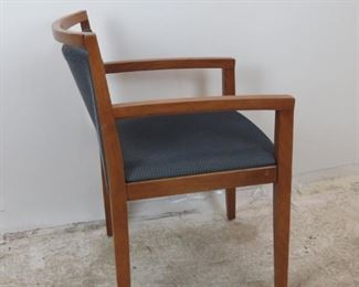 """ITEM-380- Knoll """"Ricchio"""" designed upholstered arm chair. Minor surface imperfections from normal use PIC 2"""