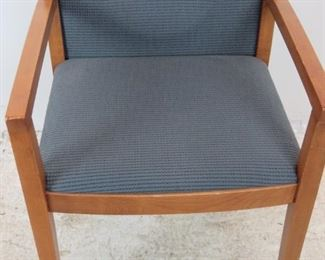 """ITEM-380- Knoll """"Ricchio"""" designed upholstered arm chair. Minor surface imperfections from normal use. PIC 3"""
