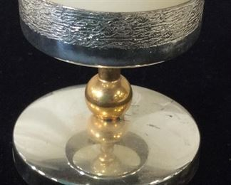 BSF Silver Pltd 2 Tone Wide Candle Holder, Germany