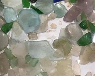 Signed Sea glass on board Helga Brinitzer