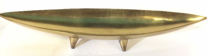 Torre & Tagus Brass Tapered Boat Form Bowl