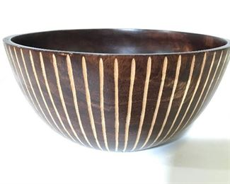 Vintage Carved Wooden Bowl