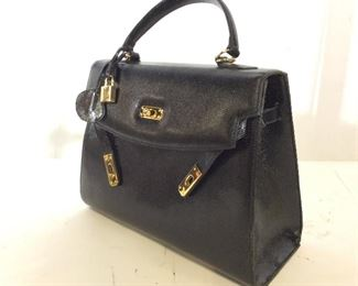 Genuine Leather MUSKA Handbag, Milano