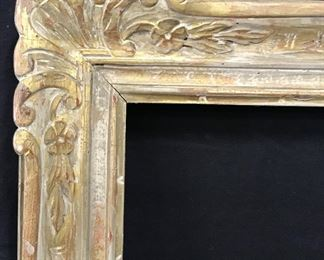 Hand Carved Gilt Wood Frame