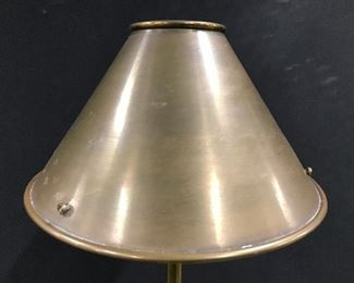 Vintage Tole Shade Metal Floor Lamp