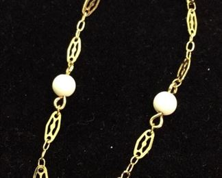 MONET Gold Toned Chain Bracelet