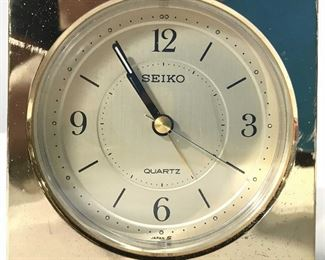 Gold Toned SEIKO Desk Clock