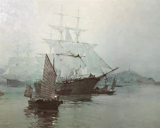Reproduction of Painting After Montague Dawson