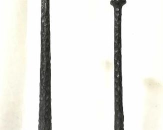 Lot 2 Vintage Wrought Iron Candlesticks